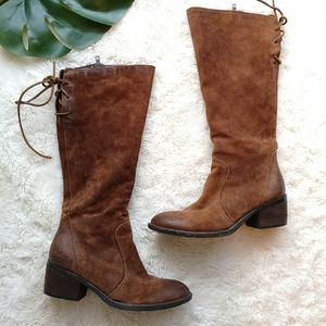 BORN riding boot tall brown leather boots
